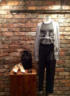 2015 S/S Maison Martin Margiela knit cardigan THE GREAT★ Tshirt CARTEL bucket bag  gray black