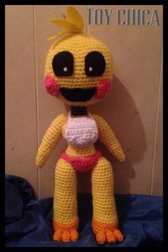 crocheted toy chica | Crochet Toy Chica Plushie by KittysoftPaws-o3