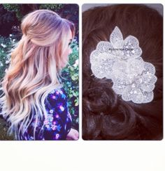 Our Mystere Hair Comb would look stunning in this half up hairdo!<3