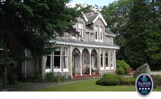 Moorfield House  luxury 4-star guesthouse in the Cairngorms  about 3 hours north of Edinburgh telephone: 01479 831646 Address:  Deshar Road, Boat of Garten, Inverness-shire,  PH24 3BN