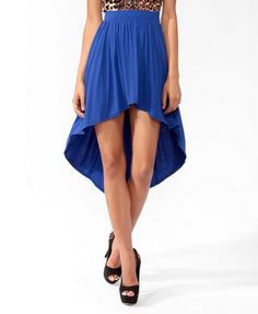 High-Low Knit Skirt