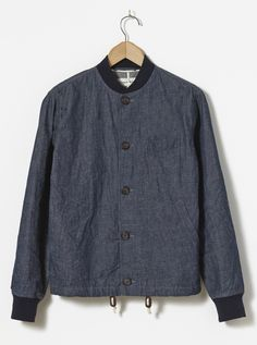 Universal Works Newark Jacket in Indigo Linen Selvedge Denim