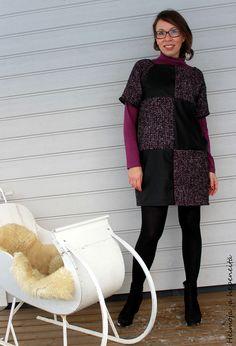 Epätyypillisten elementtien mekko - The unusul dress High Neck Dress, Pattern, Beauty, Dresses, Fashion, Vestidos, Moda, Gowns, Patterns