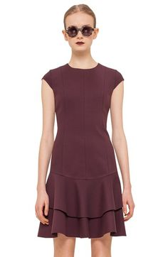 Akris punto Cap Sleeve Jersey Dress available at #Nordstrom