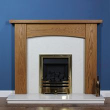 Contemporary Arch Oak Fireplace Surround. #fireplace