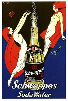 Schweppes Soda Water ad, 1930s.