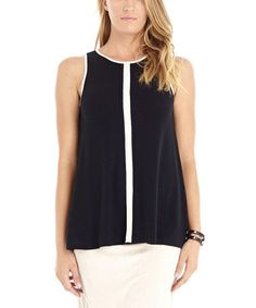 Another great find on #zulily! Black & White Modern Swing Tank by Laila Jayde #zulilyfinds