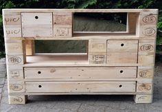 Medienmöbel - XXL Sideboard / TV-Schrank aus Paletten  - ein Designerstück von Woodful bei DaWanda
