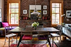 A rustic refuge in the West Village, via planete deco, originally from the NY Times.