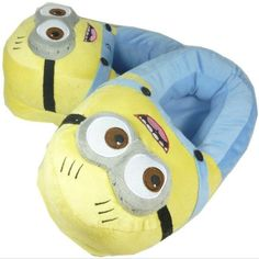 DESPICABLE ME MINION NOVELTY COSY NON SLIP SLIPPERS DAVE SIZE 12 GIFT NEW