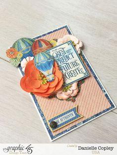 World's Fair Inspiration Card, World's Fair, by Danielle Copley, Graphic 45, Snapguide Tutorial