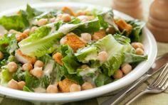 Quick Chicken and Chickpea Caesar Salad