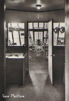 Graf Zeppelin Airship Control Room in the forward gondola.