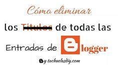 ATENCIÓN #BLOGGER Estreno en el blog un nuevo tutorial #diy con temática diferente pero con la misma finalidad: hacer uno mismo ,pero esta vez para bloggers en respuesta al cuestionario que hice a los seguidores del blog y de la fan page.  Cómo eliminar los titulos de las entradas de todo el blog  http://www.tachuelasdiy.com/2015/03/tutorial-blogger-ocultar-titulos-entradas-todo-blog.html