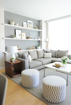 Contemporary Light Grey Living Room
