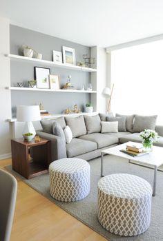 Contemporary Light Grey Living Room