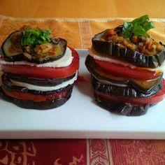 Eggplant and Tomato Stacks with fresh Mozzarella