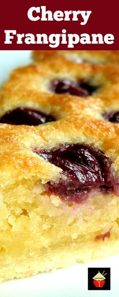 Cherry Frangipane A wonderful moist cake perfect with a cup of tea! via @lovefoodies