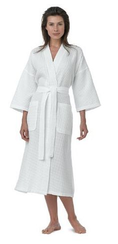 Pure Linen Turkish Waffle Kimono Style Adult Unisex Bathrobe, 100% Pure Turkish Cotton, for Women and Men, Made in Turkey, White, Large by Pure Linen, http://www.amazon.com/dp/B008DQ5MQK/ref=cm_sw_r_pi_dp_n.SRrb1WEGMSF