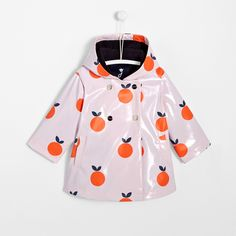 Toddler girl raincoat with clementine motif - Jacadi Girls Raincoat, Jacadi Paris, Zara, Fashion Kids, Toddler Girl, Jackets, Color, Kid Styles