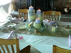 Woodland themed baby shower head table- Julie Lowden