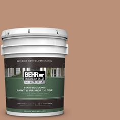 BEHR Premium Plus Ultra 5-gal. #bxc-46 Mojave Dusk Semi-Gloss Enamel Exterior Paint