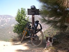 Riding with my besest Buddy. Top of Brown Mtn