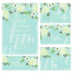 """Only 4.99 USD  Wedding invitation, """"Bridal shower announcement"""", """"Save the Date card"""", """"Wedding name card"""", """"Thank you card"""","""