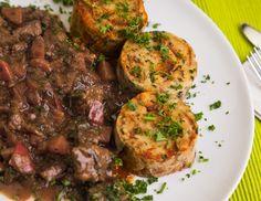 Rezept für Schweinsragout mit Pilzen
