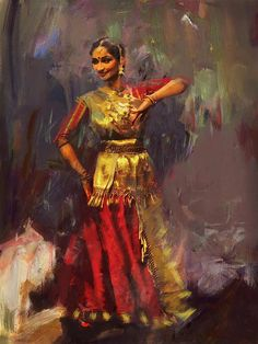 Classical Dance Art 9 Canvas Print / Canvas Art by Maryam Mughal Art Illustration Vintage, Indian Illustration, Dance Paintings, Indian Art Paintings, Kathak Dance, Indian Classical Dance, Classical Art, Sketch Painting, Painting Art