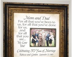50th Anniversary Gifts for Parents, Golden Anniversary Gifts