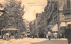 La Valencia desaparecida: Plaza del Ayuntamiento a principio del siglo XX. C...