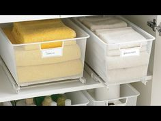 Cabinet-Sized elfa Mesh Easy Gliders Solution   The Container Store