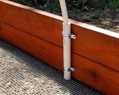 how to install pipe for pvc placement on raised beds good to cover crops in case of frost