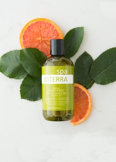 doTERRA SPA Refreshing Body Wash is a naturally-derived, oil-infused body wash that provides a rich cleansing and aromatic spa experience. Doterra Products, Doterra Essential Oils, Body Spa, Flat Lay Photography, Body Wash, Skin Care, Essential Oils, Shower Gel