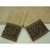 Found it at Wayfair - Zebra Gimp Decorative 3 Piece Towel Set 43.99