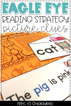 Teaching reading strategies to struggling readers in kindergarten and first grade is a great way to improve fluency and comprehension! This resource is packed with activities for elementary students using the Eagle Eye strategy. Teaching Reading Strategies, Decoding Strategies, Comprehension Strategies, Reading Skills, Guided Reading, Reading Comprehension, Reading Tips, Reading Groups, Reading Activities