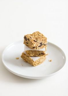 No-Bake Peanut Butter Energy Bars by edible sound bites