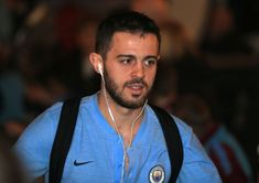 Bernardo Silva of Manchester City arrives prior to the Premier League match between Manchester City and West Ham United at Etihad Stadium on February 2019 in Manchester, United Kingdom. Get premium, high resolution news photos at Getty Images Manchester England, Manchester City, Manchester United, Zen, Premier League Matches, West Ham, United Kingdom, February, Toms
