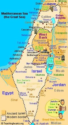 Map of modern Israel ~ we need this to show the world, Where the Historical Jews lived ~ only down South ~ The rest speaks for itself . Bible Study Notebook, Bible Study Tools, Scripture Study, Yom Kippur, Voyage Israel, Heiliges Land, Naher Osten, Bible Mapping, Israel Travel
