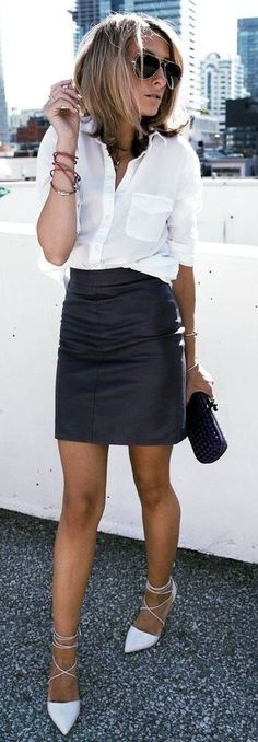 #summer #fashion #outfitideas Black And White Street Chic