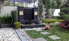 Model Kolam Ikan Minimalis Terbaru Vertikal Garden, Koi Pond Design, Garden Leave, Altered Bottles, Backyard, Patio, Semi Detached, Models, Water Features