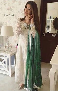 Syra Yousef in Zainab Chottani casual wear for the Pakistan Independance Day