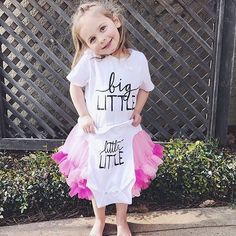 Little Faces Apparel - Sibling tees @jordan.n.martin! Big Sister announcement, baby announcement, pregnancy announcement onesie.