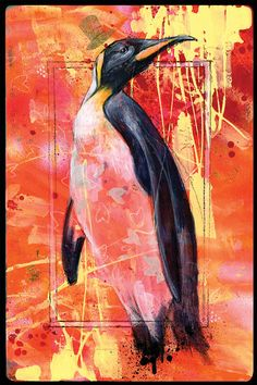 Lucidity Penguin Art Print by Black Ink Art by BlackInkArtz
