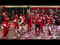 Watch the Power Rangers MEGA Flash Mob as they battle evil Moogers at Power Morphicon 2012!