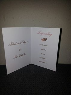 Dagindeling kaartjes #wedding#D.I.Y