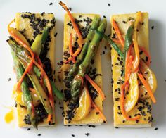 Black sesame tofu & vegetable stir-fry