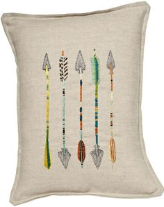 Coral and Tusk - five arrows pillow