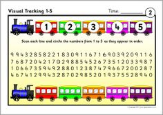 Visual tracking number sheets (SB8602) - SparkleBox